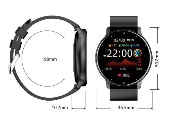 montres connectées dimensions
